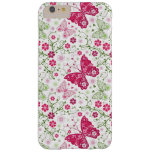 Modelo blanco floral funda de iPhone 6 plus barely there