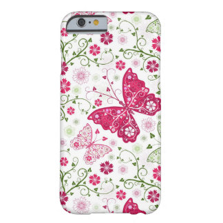 Modelo blanco floral funda barely there iPhone 6