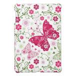 Modelo blanco floral iPad mini funda