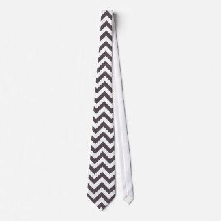 Modelo blanco gris oscuro de Chevron Corbata Personalizada
