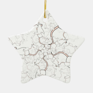 Modelo blanco lindo del ratón. Ratones en blanco Adornos De Navidad