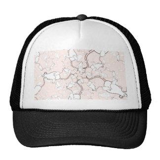 Modelo blanco lindo del ratón. Ratones en rosa Gorros