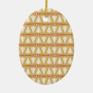Modelo blanco moderno de los árboles de navidad en ornamente de reyes
