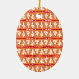 Modelo blanco moderno de los árboles de navidad en ornamento para arbol de navidad