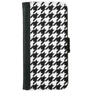 Modelo blanco negro #2 de Houndstooth Carcasa De iPhone 6