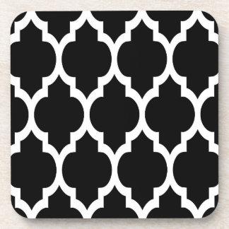 Modelo blanco negro 4 de Quatrefoil del marroquí