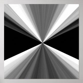 Modelo blanco negro abstracto moderno de los póster