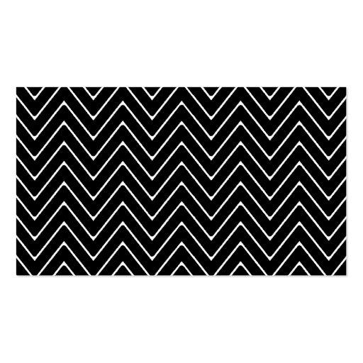 Modelo blanco negro de Chevron Tarjetas De Visita