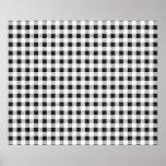 Modelo blanco negro de la guinga impresiones
