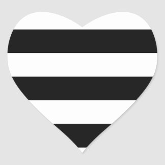 modelo blanco negro de las rayas colcomanias de corazon