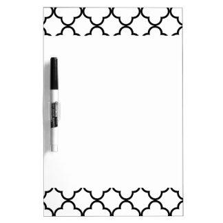 Modelo blanco negro de Quatrefoil Pizarra