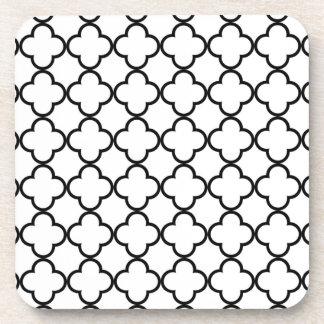Modelo blanco negro de Quatrefoil Posavaso