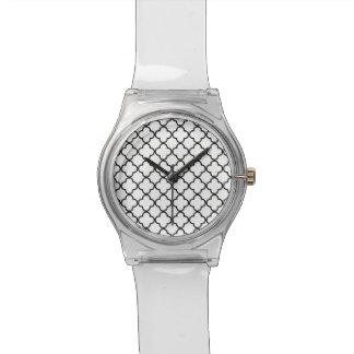Modelo blanco negro de Quatrefoil Relojes De Mano