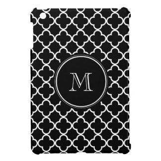 Modelo blanco negro de Quatrefoil su monograma