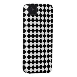 Modelo blanco negro del control del diamante iPhone 4 Case-Mate cárcasas