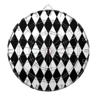Modelo blanco negro del Harlequin Tablero Dardos