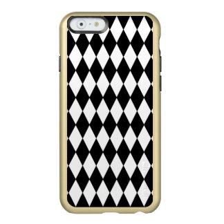 Modelo blanco negro del Harlequin Funda Para iPhone 6 Plus Incipio Feather Shine