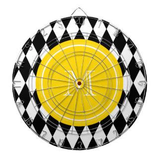 Modelo blanco negro del Harlequin monograma amari