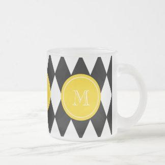 Modelo blanco negro del Harlequin, monograma amari Taza