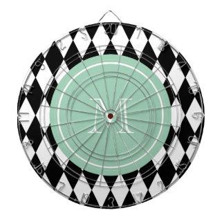 Modelo blanco negro del Harlequin monograma de la