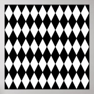 Modelo blanco negro del Harlequin Poster