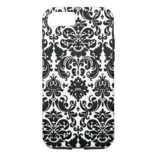 Modelo blanco negro elegante del damasco funda iPhone 7