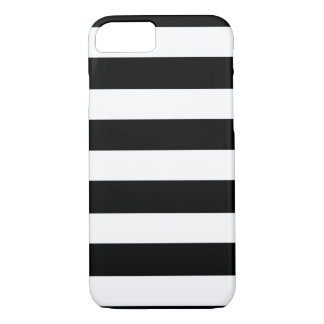 Modelo blanco negro moderno de las rayas funda iPhone 7