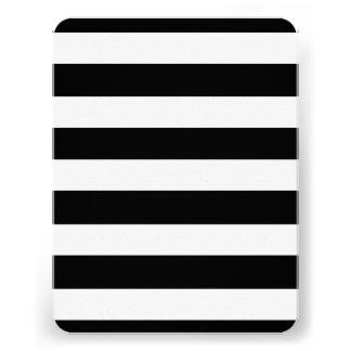 Modelo blanco negro moderno de las rayas invitacion personal