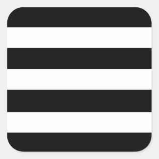 Modelo blanco negro moderno de las rayas pegatina cuadrada