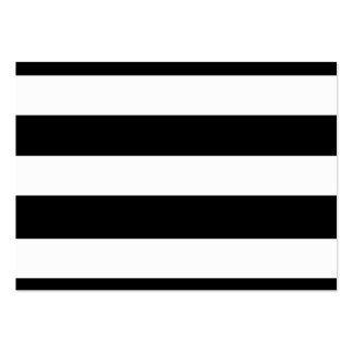 Modelo blanco negro moderno de las rayas tarjetas de visita grandes