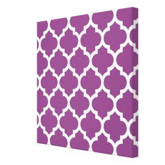 Modelo blanco púrpura #5 de Quatrefoil del Lona Envuelta Para Galerías