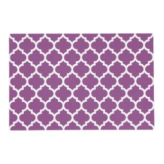 Modelo blanco púrpura #5 de Quatrefoil del Salvamanteles
