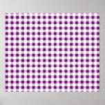 Modelo blanco púrpura de la guinga poster