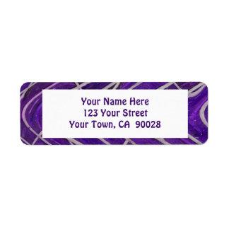 modelo blanco púrpura etiqueta de remite