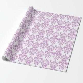 Modelo blanco púrpura femenino 2 del damasco del