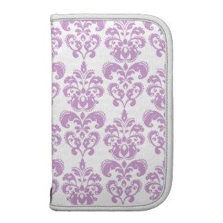 Modelo blanco púrpura femenino 2 del damasco del v planificador