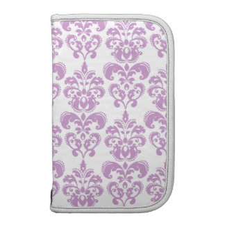 Modelo blanco púrpura femenino 2 del damasco del v organizadores