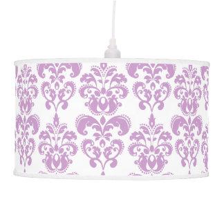Modelo blanco púrpura femenino 2 del damasco del v