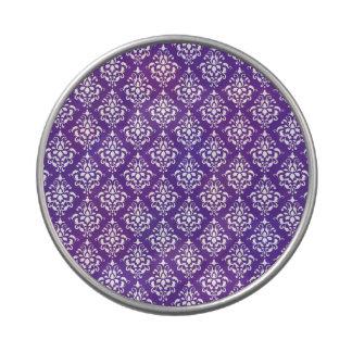 Modelo blanco púrpura oscuro del damasco del vinta