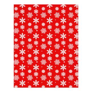Modelo blanco rojo brillante 1 de los copos de nie tarjeta publicitaria