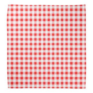 Modelo blanco rojo de la guinga bandanas