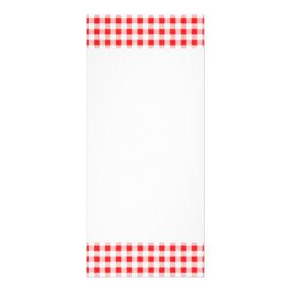 Modelo blanco rojo de la guinga diseño de tarjeta publicitaria