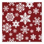 Modelo blanco rojo del día de fiesta del navidad comunicados personales