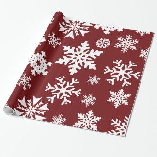 Modelo blanco rojo del día de fiesta del navidad papel de regalo