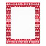 modelo blanco rojo del navidad del copo de nieve tarjeton