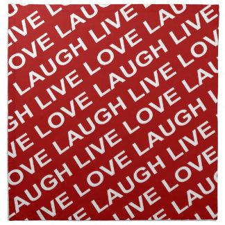 Modelo blanco rojo del texto del amor servilletas imprimidas