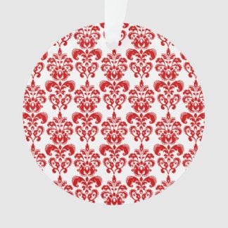 Modelo blanco rojo femenino 2 del damasco del vint
