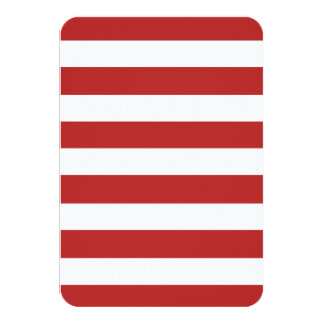 Modelo blanco rojo moderno de las rayas invitaciones personales