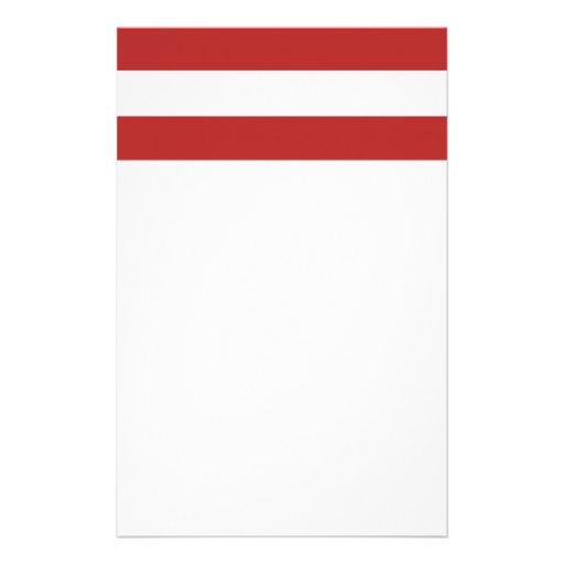 Modelo blanco rojo moderno de las rayas papeleria de diseño