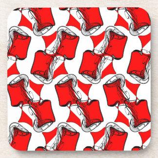Modelo blanco rojo posavasos de bebidas